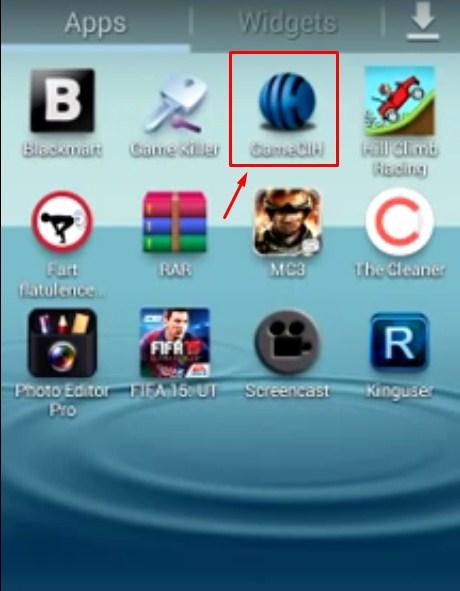 GameCIH on apps menu
